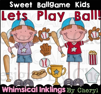 Sweet BallGame Kids Clipart Collection