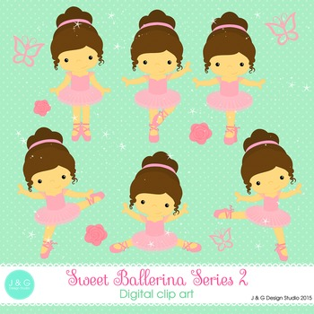 Ballerina Series 2 digital clip art