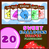 Sweet Balloons 2D Shapes Flash Cards