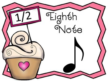 Sweet Beats: a notation bulletin board set