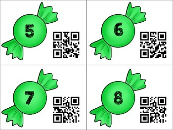 Sweet Before and After Sequencing Numbers with QR Codes 1-120