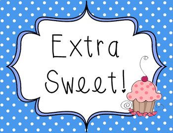 Sweet Behavior Chart - Candy Themed