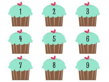 """""""Sweet Behavior"""" Management System - brown and green cupcakes"""