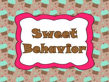 """Sweet Behavior"" Management System - brown and green cupcakes"