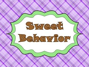 """Sweet Behavior"" Management System- green&purple cupcakes"
