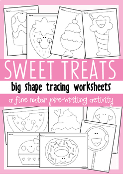 Sweet Big Shape Tracing {Prewriting Activity}