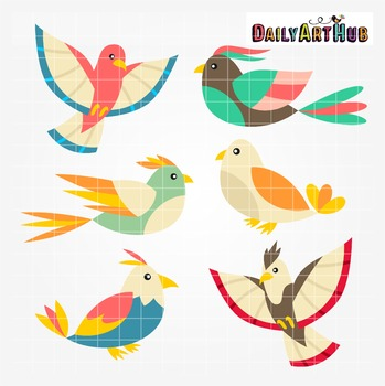 Sweet Birds Clip Art - Great for Art Class Projects!