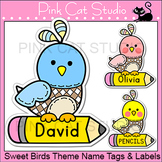 Bird Theme Labels and Name Tags