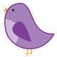 Classroom Decor Sweet Blue Bird Cut Out 10 in