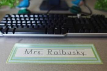 Classroom Decor Sweet Blue Bird Nameplates