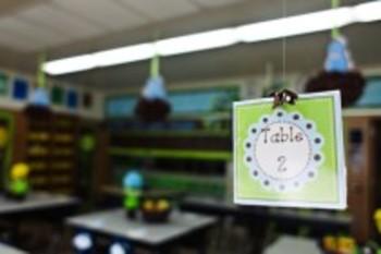 Classroom Decor Sweet Blue Bird Table Signs