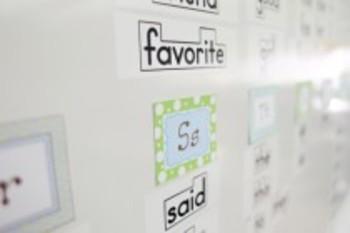 Classroom Decor Sweet Blue Bird Word Wall Alphabet Tags