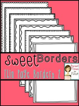 Thin Page Borders SET TWO