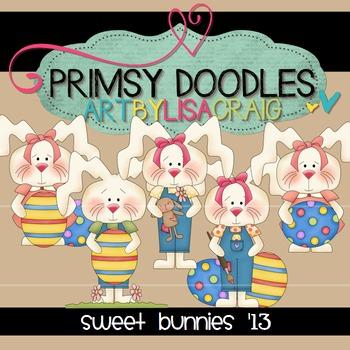Sweet Bunnies 300 dpi clipart
