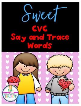 Valentine's Day Sweet CVC Trace Words