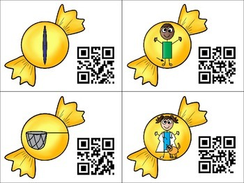 Sweet CVC Words with QR Codes