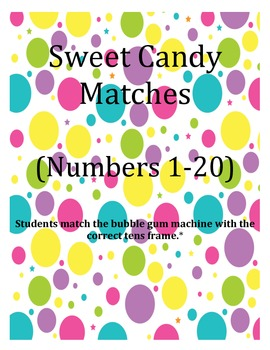 Sweet Candy Matching (Numbers 1-20)