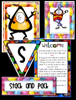 Sweet Candy Theme Pack For Back to School!