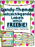 Sweet Candy Themed Word of the Day/Week- FREEBIE!
