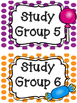 Sweet Candy Themed Classroom Table/Group Numbers and Blank Labels