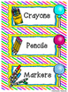 Sweet Candy Themed School Supply Labels