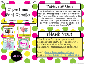 Sweet Candy Themed Word Wall Headers & Signs Sampler - FREEBIE