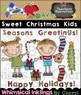 Sweet Christmas Kids Clipart Collection