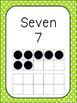 Number Signs 1-20 - Sweet Citrus Theme