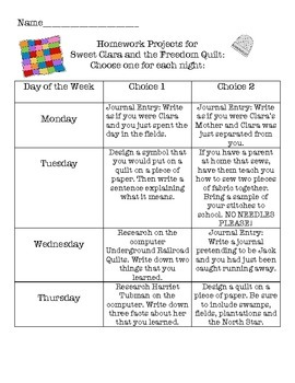 Sweet Clara and the Freedom Quilt Unit - Comprehension, Writing and More