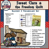 Sweet Clara and the Freedom Quilt Vocabulary