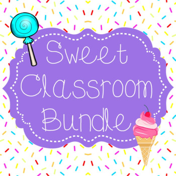 Sweet Classroom Decor Bundle {cupcakes, candy, ice cream}
