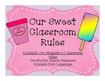 Sweet Classroom Rules-a booklet to help reinforce classroo