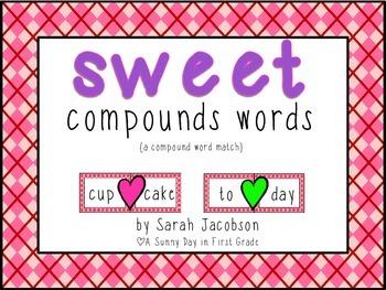 Sweet Compound Words {freebie!}