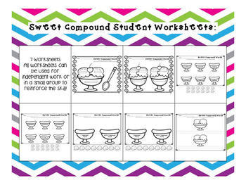 Sweet Compound Word Sundae Scoops