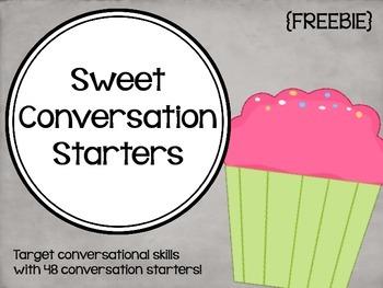 Sweet Conversation Starters {FREEBIE} by Lindsey Karol   TpT