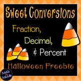 Converting Fractions, Decimals, and Percents (Halloween Freebie)