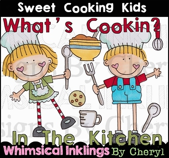 Sweet Cooking Kids Clipart Collection