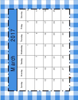 Sweet Country Life Classroom Calendar and Bulletin Board Cutouts