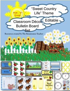 Sweet Country Life Decor Bulletin Board Set K-2