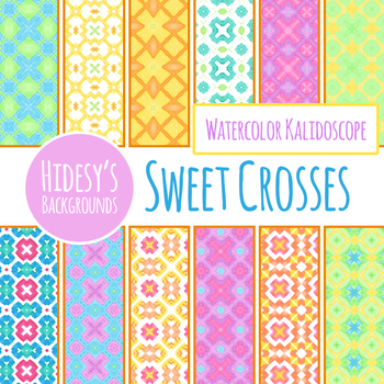 Sweet Crosses Digital Paper / Texture / Background Clip Art for Commercial Use