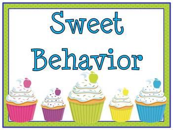 Sweet Cupcake! Behavior Clip Chart