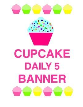Sweet! Cupcake Daily 5 Banner