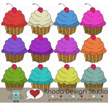 Cupcakes Digital Clip Art Images