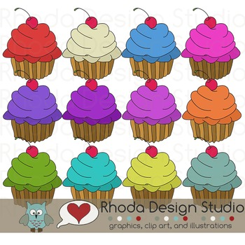 Cupcake Digital Clipart