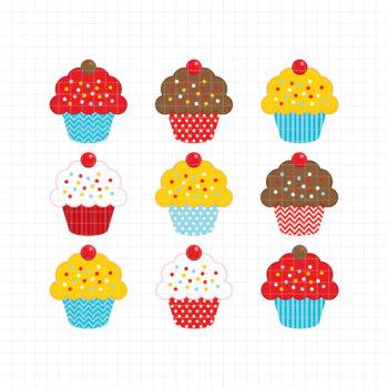 Sweet Cupcakes-Digital Clipart (LES.CL04A)
