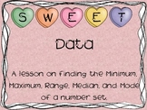 Sweet Data Valentine Math Activity - Min., Max., Median, Mode, Range