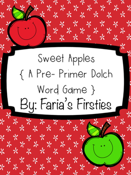 Sweet Dolch Words { A Pre-Primer Dolch Word Game }