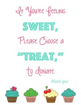 Sweet Donations Sign