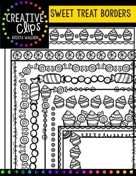 Sweet Doodle Borders {Creative Clips Digital Clipart}