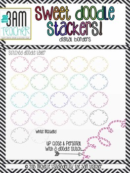 Sweet Doodle Stackers: Digital Border Graphics to Mix, Match, & Stack (Layer)